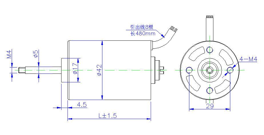 * 42SWY系列永磁无刷电机直径42mm圆形 * 绝缘等级F,耐高温155度 * 可以选用正弦波驱动器,适合特低静音应用场合 * 可以设计高转速15000RPM以上, * 可以选配铸件机壳,更好抑制噪音和振动。 * 可改装端盖,选装各种驱动器、编码器等 * 永磁无刷电机可完全代替进口电机:AMETEK MCG PITTMAN BTSR * 42SWY系列永磁无刷电机广泛应用于点钞机、定位系统、张力控制器